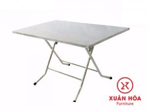 Bàn xếp inox Xuân Hoà, KT 1170x700