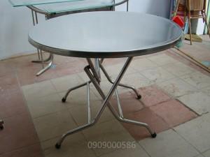 Bàn tròn inox 304, đk 1.2m, BT12 (M304)