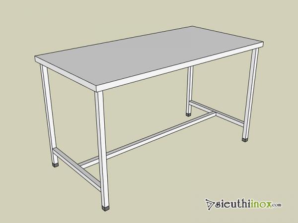 Các mẫu bàn inox 1 tầng