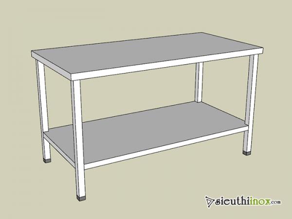 Các mẫu bàn inox 2 tầng