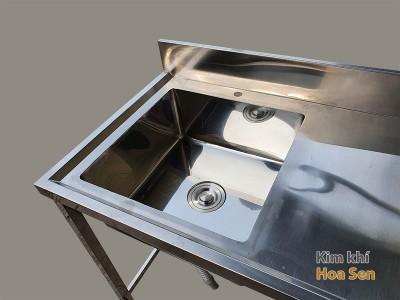 Thanh lý chậu rửa bát inox 1 hố có bàn (hàng trưng bày)