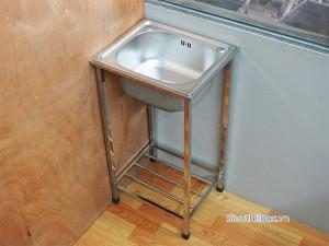 Chậu rửa inox 1 hố có chân cr-4236C