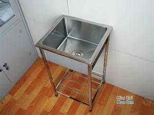 Chậu rửa 1 hố có chân, cr-4541C-201