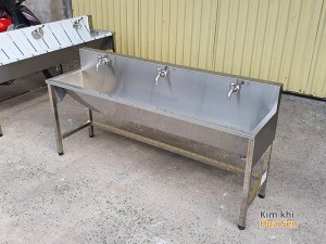 Máng rửa tay inox trường học, nhà máy, bệnh viện