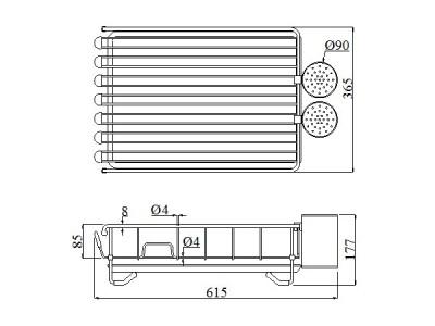 Kệ inox để bát đĩa cao cấp KCM3655