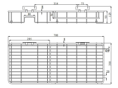 Kệ inox 304 cao cấp VC3070