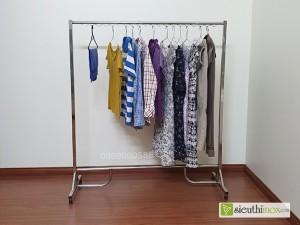 Giá phơi quần áo loại đơn, D25, inox 304