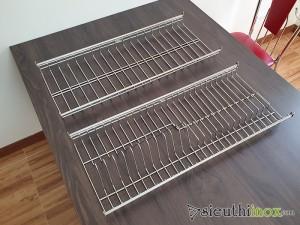 Giá úp bát đĩa inox 304 cho tủ bếp, tai bắt vít điều chỉnh