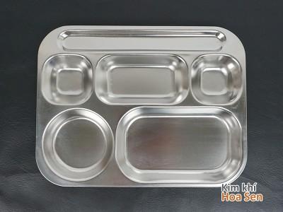 Khay cơm inox 6 ngăn, 6N3225