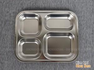 Khay cơm inox loại 4 ngăn, 4N2521