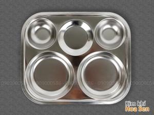 Khay cơm inox 5 ngăn tròn, 5N3328