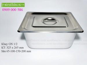 Khay inox Buffet - Khay GN 1/2- Khay Topping - Khay đựng thực phẩm cao cấp