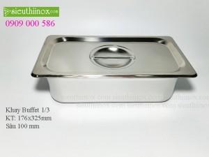 Khay inox Buffet - Khay GN 1/3- Khay Topping - Khay đựng thực phẩm cao cấp