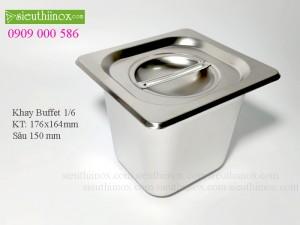 Khay inox Buffet - Khay GN 1/6- Khay Topping - Khay đựng thực phẩm cao cấp