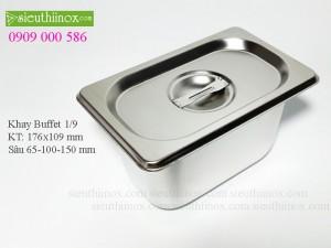 Khay inox Buffet 1/9 - Khay GN - Khay Topping - Khay đựng thực phẩm cao cấp
