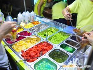 Khay đựng hoa quả, khay bán hoa quả dầm
