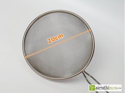 Rây lọc lưới inox, loại 20cm