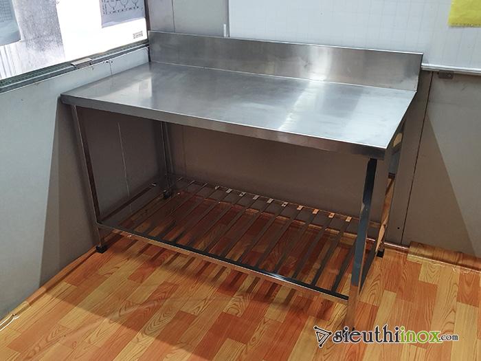 bàn chặt inox 2 tầng inox 304