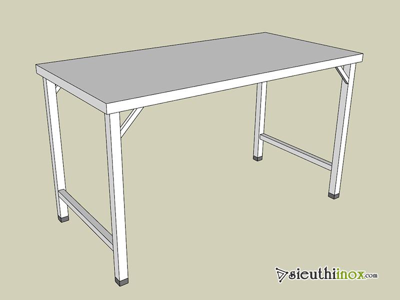 Mẫu bàn inox 1 tầng không giằng chân