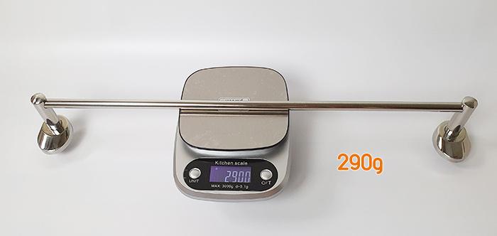 khối lượng giá phơi khăn đơn inox 304 pk-1001