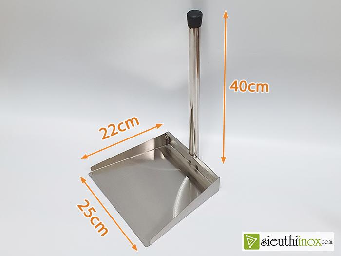 kích thước chi tiết hót rác inox