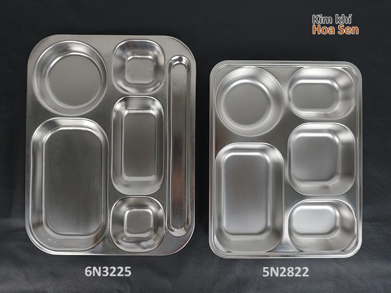 kích thước khay cơm inox 6 ngăn 6N3225
