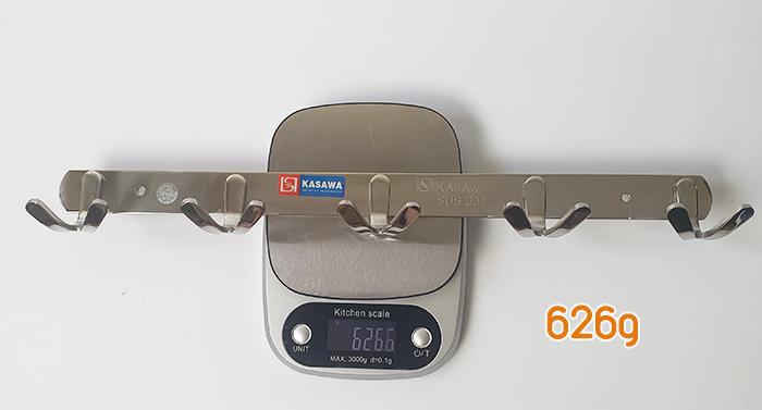 khối lượng của móc áo inox 304 mh135