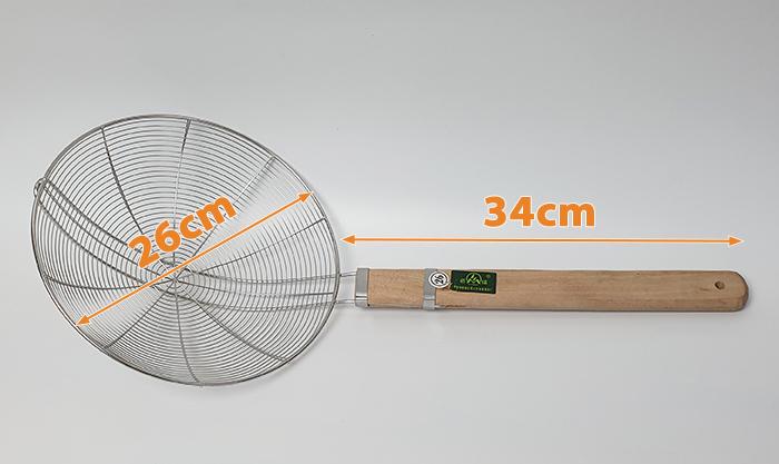 kích thước chao inox cán gỗ